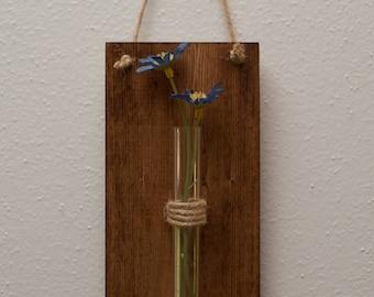 Wall Hanging Glass Test Tube Vase