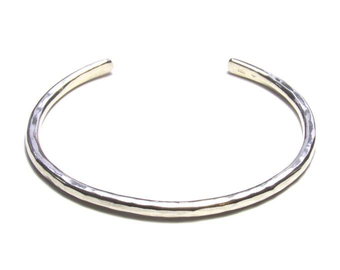 Hammered Silver Cuff Bracelet, Unisex Bracelet, Silver Mens Bracelet, Women's Bracelet, Mens Cuff, Womans Cuff, Rustic Cuff
