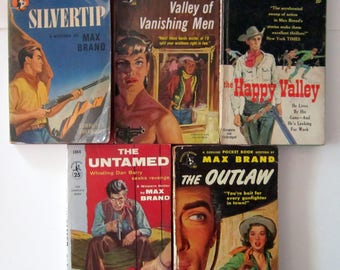Max Brand WESTERN PULP FICTION! Cowboys & Cowgirls and Rustlers Oh My!!!