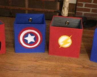 Superhero storage bins