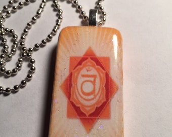 Sacral Chakra Altered Domino Necklace