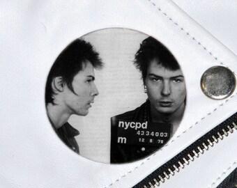 Sid Vicious Mugshot Badge