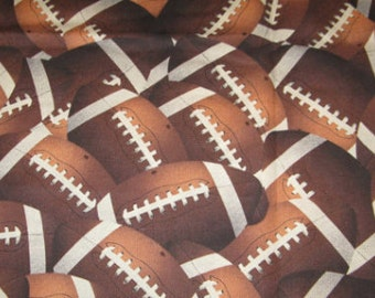 Football crib/toddler fitted sheet