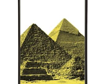 Ancient Egypt Pyramids of Giza Pop Art Print
