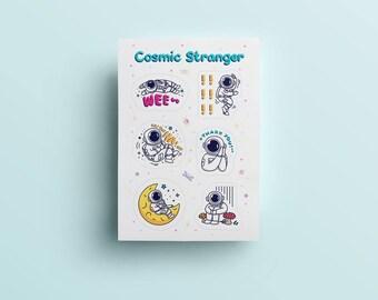 Cosmic Stranger Feelings Sticker Sheet
