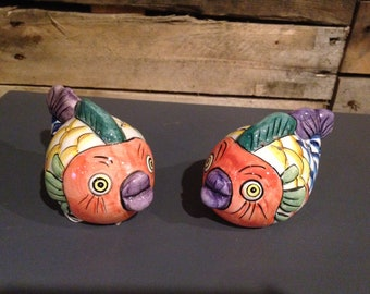 Fishy salt and pepper shaker set