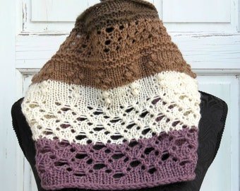 Download Now - Knitting Pattern - PDF DOWNLOAD ONLY, Cowl, In the Round
