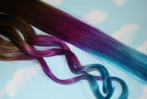 Items Similar To Purple, Blue Tie Dye Tips, Purple