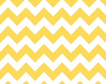 Riley Blake Chevron Yellow Flannel Fabric, 1 yard