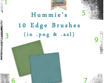 Commercial Use Edge Grunge Photoshop Brushes