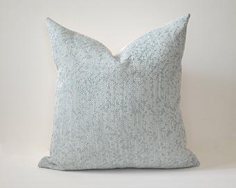 Robins Egg Chevron Pillow Cover