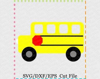 School Bus SVG Cutting File, school svg, bus svg, school bus cut file, bus svg cut file,