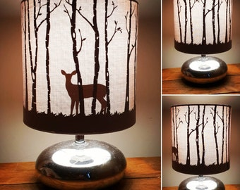 Doe lampshade, bedside/reading lamp.  Perfect for any deer lover!