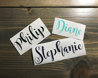 Cursive Name Vinyl Decal, Personalized, Handwritten, Yeti Decal, Laptop Decal, Cell Phone Sticker, car decal, Signs, farmhouse