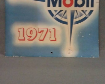 No longer available Please do not buy Mobil Oil Calendar 1971
