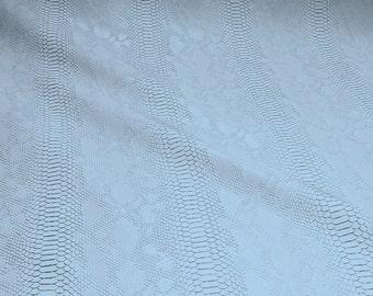 Fabric PVC nappa white crocodile flashy glittering leatherette