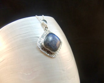 Labradorite Sterling Silver Necklace Pendant