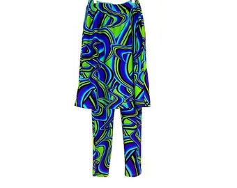 SWIMSKIRT with attached LEGGINGS (prints) ~ in a variety oF prints