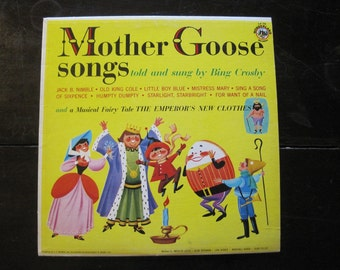 Vintage Record-Mother Goose Songs Told and Sung by Bing Crosby-1977