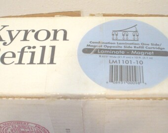 """Vintage NOS Dead Stock Xyron Refill Combination Lamination One Side Magnet Opposite Refill Cartridge LM 1101-10 8.625"""" Wide x 10' Sealed BIN"""