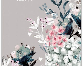 Floral best handmade 21cm x 15cm greeting card