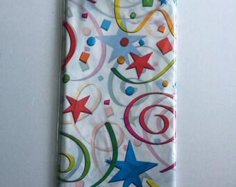 Tablecloth white pattern plastic tubing