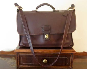 Etsy BDay Sale Coach Metropolitan Briefcase Attache In Mahogany (Brown) - Style No. 5180 - Made In United States- VGC