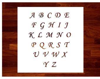 Cursive Font Custom Stencil