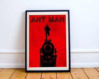 Ant Man Minimalist Movie Poster - Paul Rudd - Marvel (Available In Many Sizes)