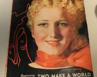 Vintage Magazine 1930's Redbook Magazine March 1932 Art Deco Era Art Deco Fashions Advertising Illustrations