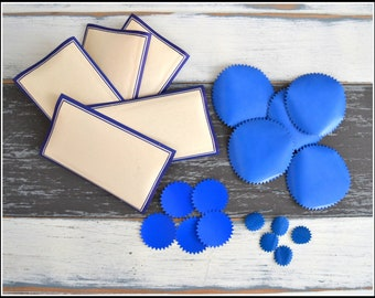 Vintage Dennison Blue Labels and Notarial Seals - Label Assortment - Gummed Seals Labels - Vintage Office