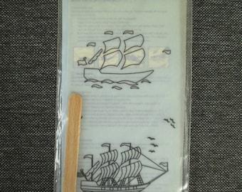 Transfer to ceramic boat motif - Mitchell Ceramics