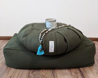 Ultimate Meditation Gift Set Includes Zafu Meditation Cushion, Bolster, Candle and Mala