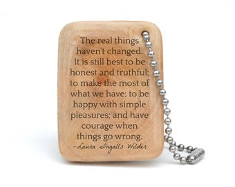 Personalized Quote Keychain - Laura Ingalls Wilder Quote - Graduation gift for Son or Daughter, Gift for Graduation