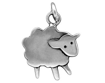 Sterling Sheep Necklace - Silver Lamb Pendant or Charm