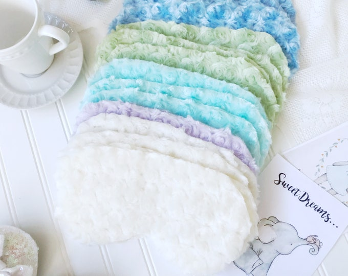 Pastel Sleep Mask Spa Mask. Choose a color. Minky fabric