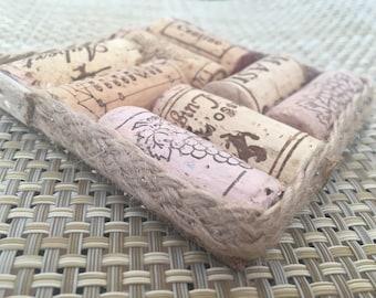 Wine Cork Coasters Set