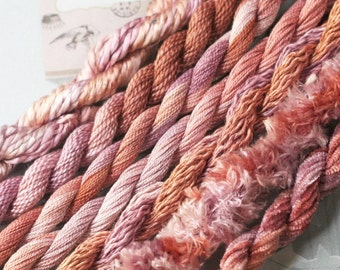 Silk Embroidery Thread for Needlework, Embroidery, Stumpwork hand dyed in Desert Dawn