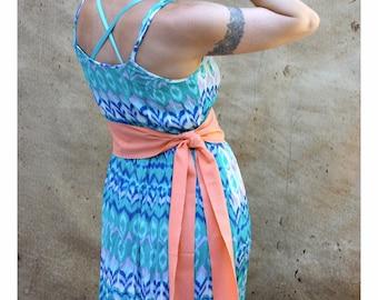 Sunset Orange Sash, SA11 - Woven Sash - Fabric Sash Belt - Guatemalan Textiles - Orange Sash Belt - Reenactment Clothing - Bohemian Belt