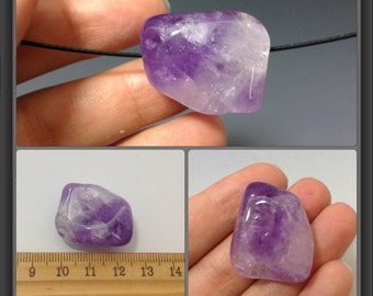 Amethyst beads/ large/ 27x23x15mm