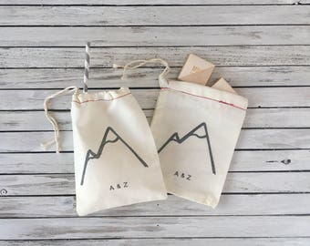 Mountain Wedding Welcome Bag - Wedding Welcome Bags - Mountainscape Welcome Bags - Winter Wedding Bags - Winter Wedding Welcome Bag