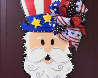 Uncle Sam Patriotic Door Hanger Fourth Of July