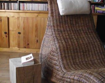 End table 25 X 25 X 25 cm wooden oak furniture bedside stool
