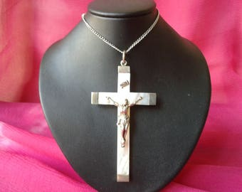 Cross Pearl and silver vintage 1900