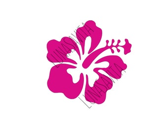 Hibiscus SVG, DXF Files for Cricut Design Space, Silhouette Studio, Die Cut Machines, Instant Download of svg, dxf, & jpg