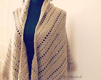 Genuine Pleasure Crocheted Shawl