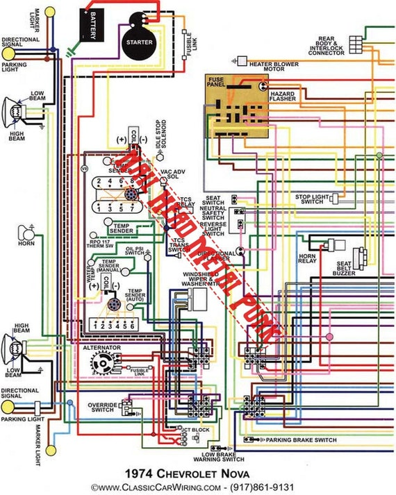 Chevy Nova Wiring Diagram1974 Wiring Diagram Digital Download