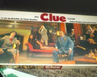 Vintage (c.1972) Clue board game published by Parker Bros. Complete.