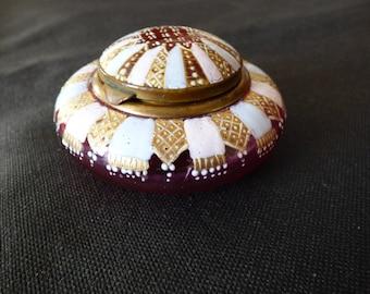 French lady's miniature trinket pot