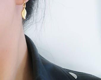 Leaf Earrings, Gold Leaf Earrings, Leaf Studs, Gold Leaf Studs, Leaf Stud Earrings, Gold Leaf Drop, Leaf Drop Studs, Leaf Drop Earrings